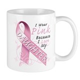 I Wear Pink Because I Love My Daughter Mug