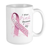 I Wear Pink Because I Love My Daughter Ceramic Mugs