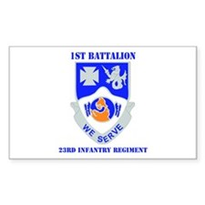 DUI - 1st Bn - 23rd Infantry Regt with Text Sticke