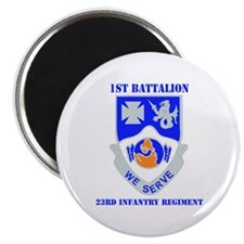 """DUI - 1st Bn - 23rd Infantry Regt with Text 2.25"""""""