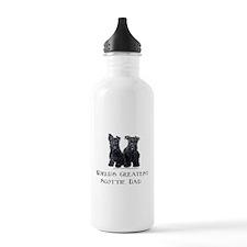 Scottish Terriers Best Dad Pu Water Bottle