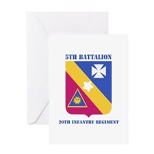 DUI - 5th Bn - 20th Infantry Regt with Text Greeti