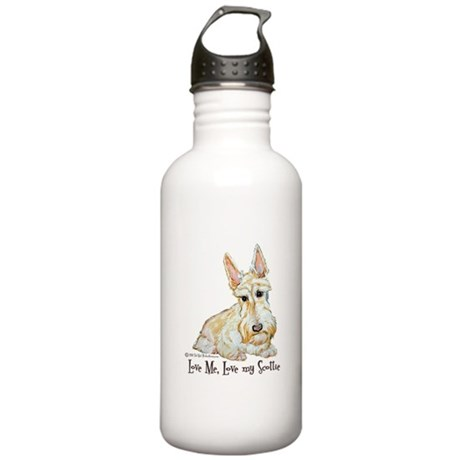 Wheaten Scottish Terrier Stainless Water Bottle 1.