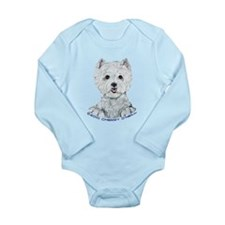 Lovable Westie Long Sleeve Infant Bodysuit