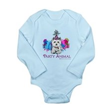 Westie Party Celebration Long Sleeve Infant Bodysu