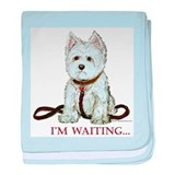 Westie Walks baby blanket