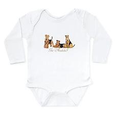 Got Airedale Terriers? Long Sleeve Infant Bodysuit