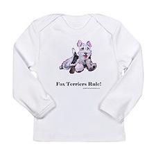 Fox Terrier Agility Dog Long Sleeve Infant T-Shirt