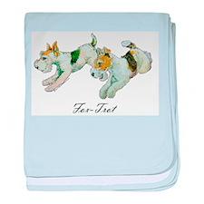 Fox Trot Terriers baby blanket
