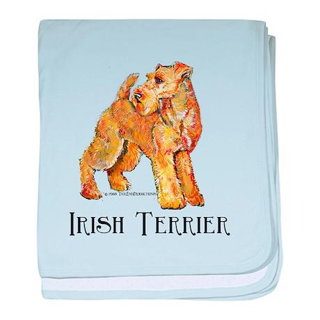 Irish Terrier Profile baby blanket