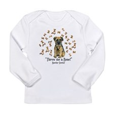 Border Terrier Bone! Long Sleeve Infant T-Shirt