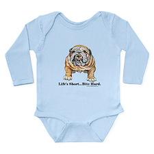Bulldog Bite for Dog lovers Long Sleeve Infant Bod