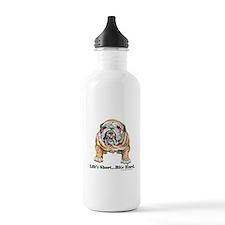 Bulldog Bite for Dog lovers Water Bottle