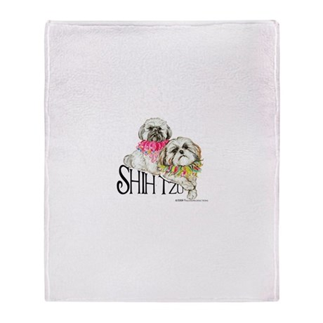 Two Shih Tzu! Throw Blanket