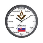 Slovak Masons Masonic Wall Clock