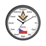 Czech Masons Masonic Wall Clock