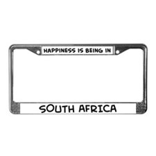 Happiness is South Africa License Plate Frame