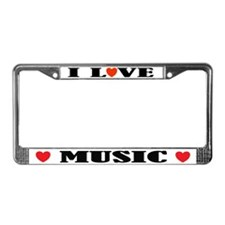 I Love Music License Plate Frame