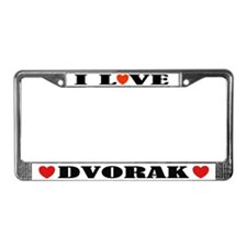 I Love Dvorak License Plate Frame