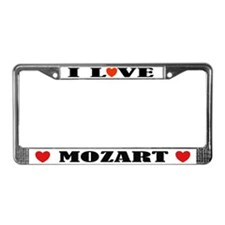 I Love Mozart License Plate Frame