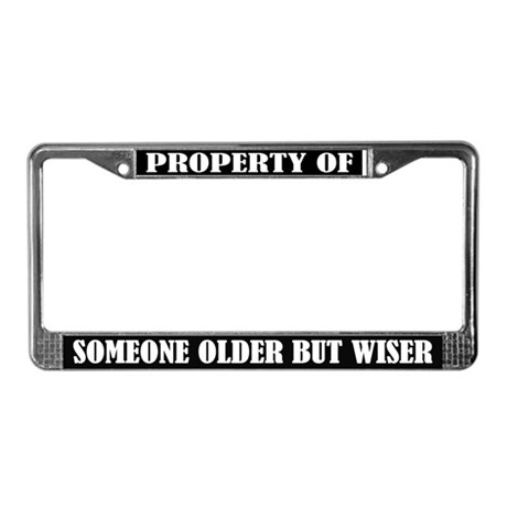 Funny Older But Wiser License Plate Frame