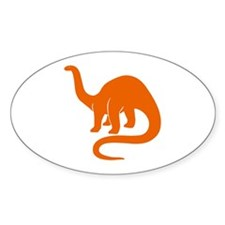 Brontosaurus Oval Stickers