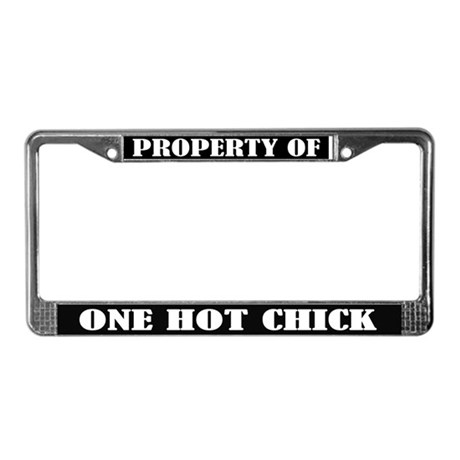 Hot Chick License Plate Frame