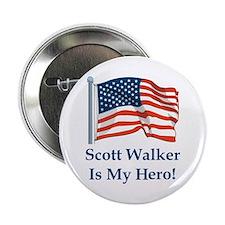 """Scott Walker is my hero! 2.25"""" Button"""