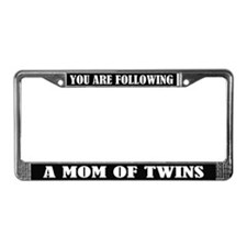 Funny Mom Of Twins License Plate Frame