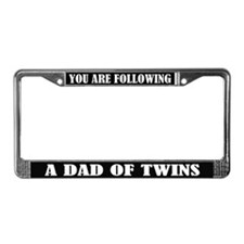 Funny Dad Of Twins License Plate Frame