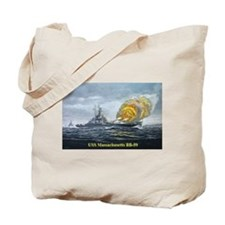 USS Massachusetts - Final Bombardment Tote Bag
