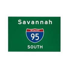 Savannah 95 Rectangle Magnet