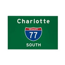 Charlotte 77 Rectangle Magnet