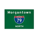 Morgantown 79 Rectangle Magnet
