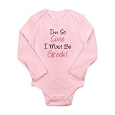 Must Be Greek Long Sleeve Infant Bodysuit