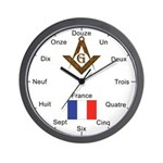 French Masons Masonic Wall Clock