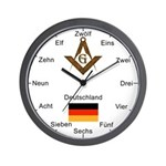 German Masons Masonic Wall Clock