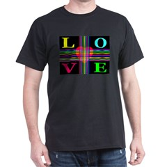 Love Rays Classic Black T-Shirt