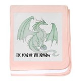 Jade Dragon baby blanket