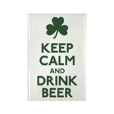 KEEP CALM Shamrock Rectangle Magnet