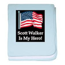Scott Walker is my hero! baby blanket