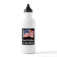 Scott Walker is my hero! Water Bottle