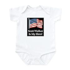 Scott Walker is my hero! Infant Bodysuit