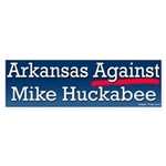 Arkansas Against Huckabee Bumper Sticker