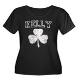 Kelly Irish Shamrock Women's Plus Size Scoop Neck
