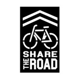 BLACK Sharrow Share the Road -  Aufkleber