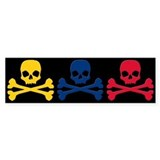 Colombian Skulls Bumper Sticker