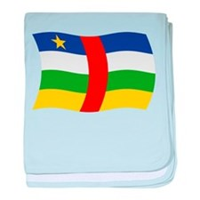 Central African Republic Flag baby blanket