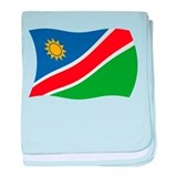 Namibia Flag 2 baby blanket