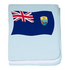 Saint Helena Flag baby blanket